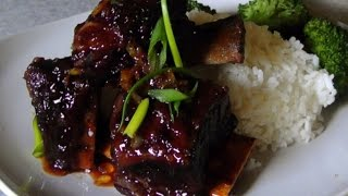 Power Pressure Cooker Orange Sriracha Short Ribs
