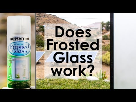 Does Frosted Glass by Rust-oleum work?