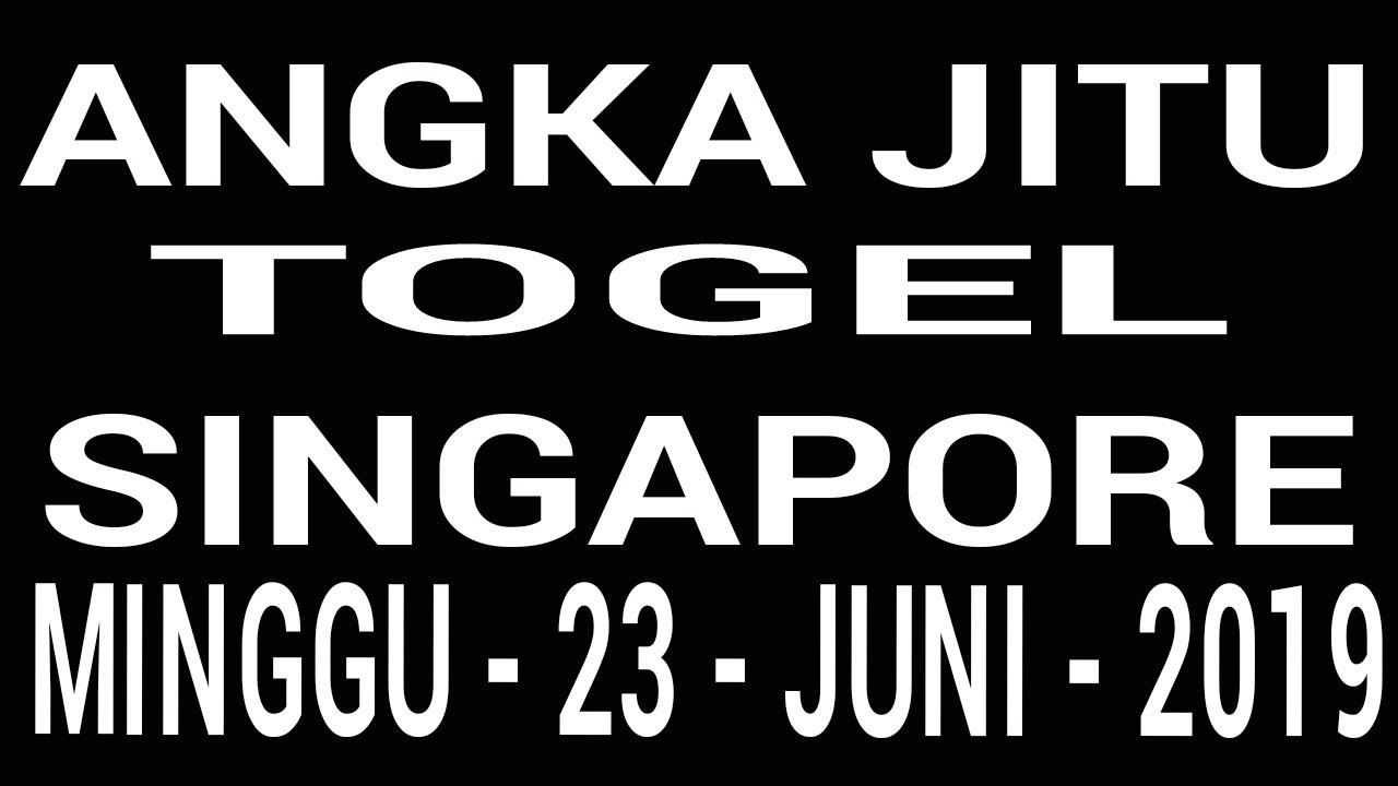 Angka Jitu Togel Singapore Minggu  D D