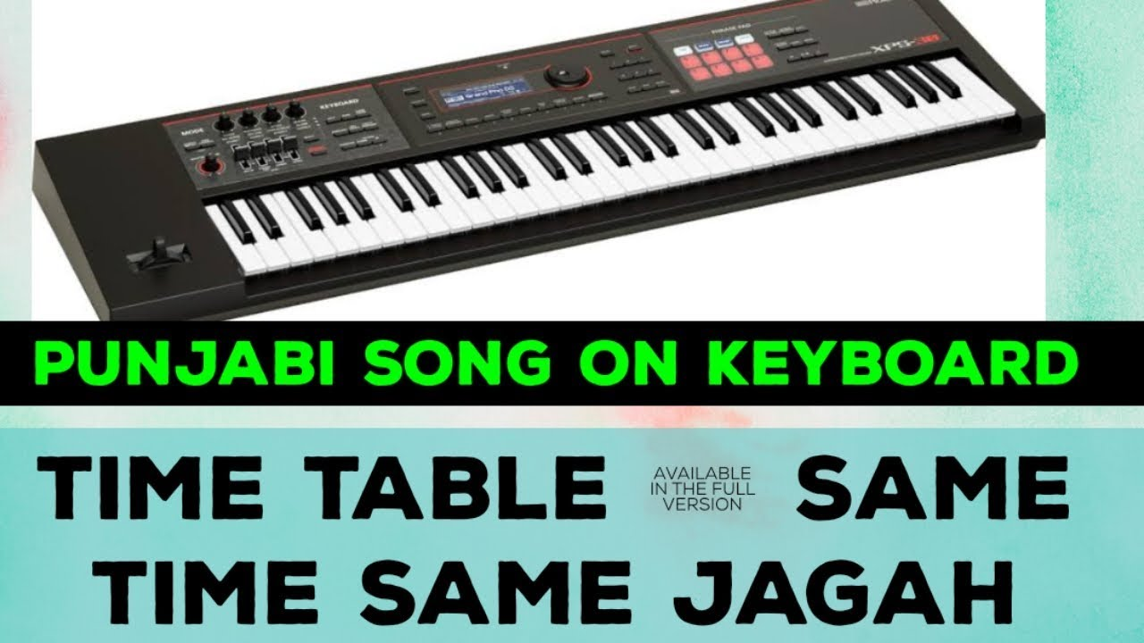 Punjabi songs on Keyboard #kulwinder billa #Roland#xps#30