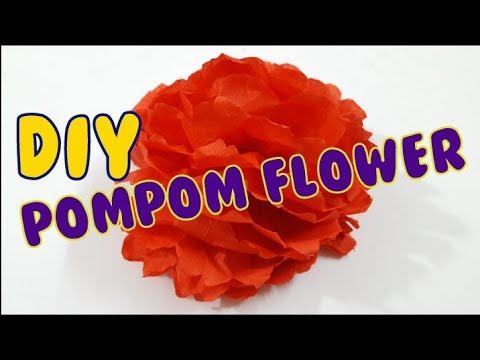 Easy do it yourself pom pom flower youtube for Do it yourself pom poms
