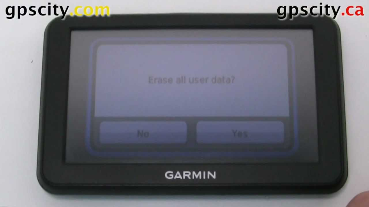 How to Reset the Garmin nuvi 30, 40 and 50 with GPS City