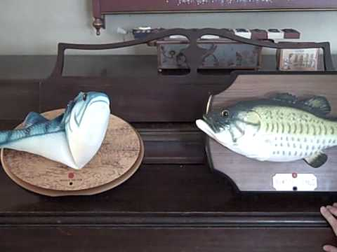 Frankie The Fish Sings With Big Mouth Billy Bass!!!!