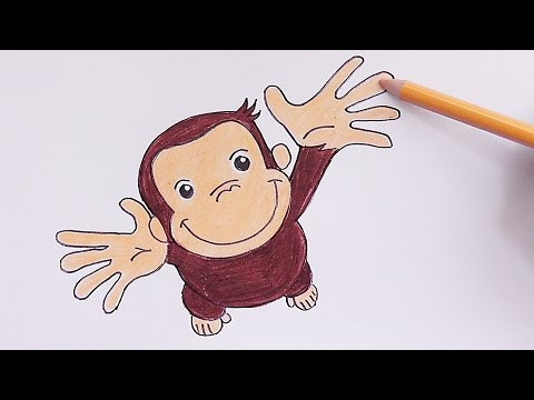 Dibujando Y Pintando A Jorge El Curioso Drawing And Painting To Curious George