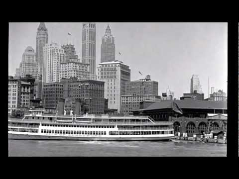 Manhattan - Merv Griffin - Freddy Martin Orch - 1930's Lower Manhattan Waterfront