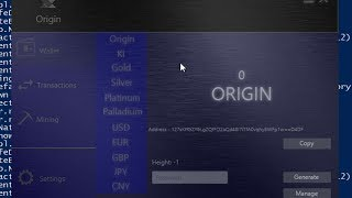 How to Setup Origin Cryptocurrency / Miner / Wallet