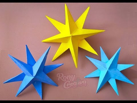 How to make 3D Paper Stars / Christmas decoration / Diy paper Craft Ideas