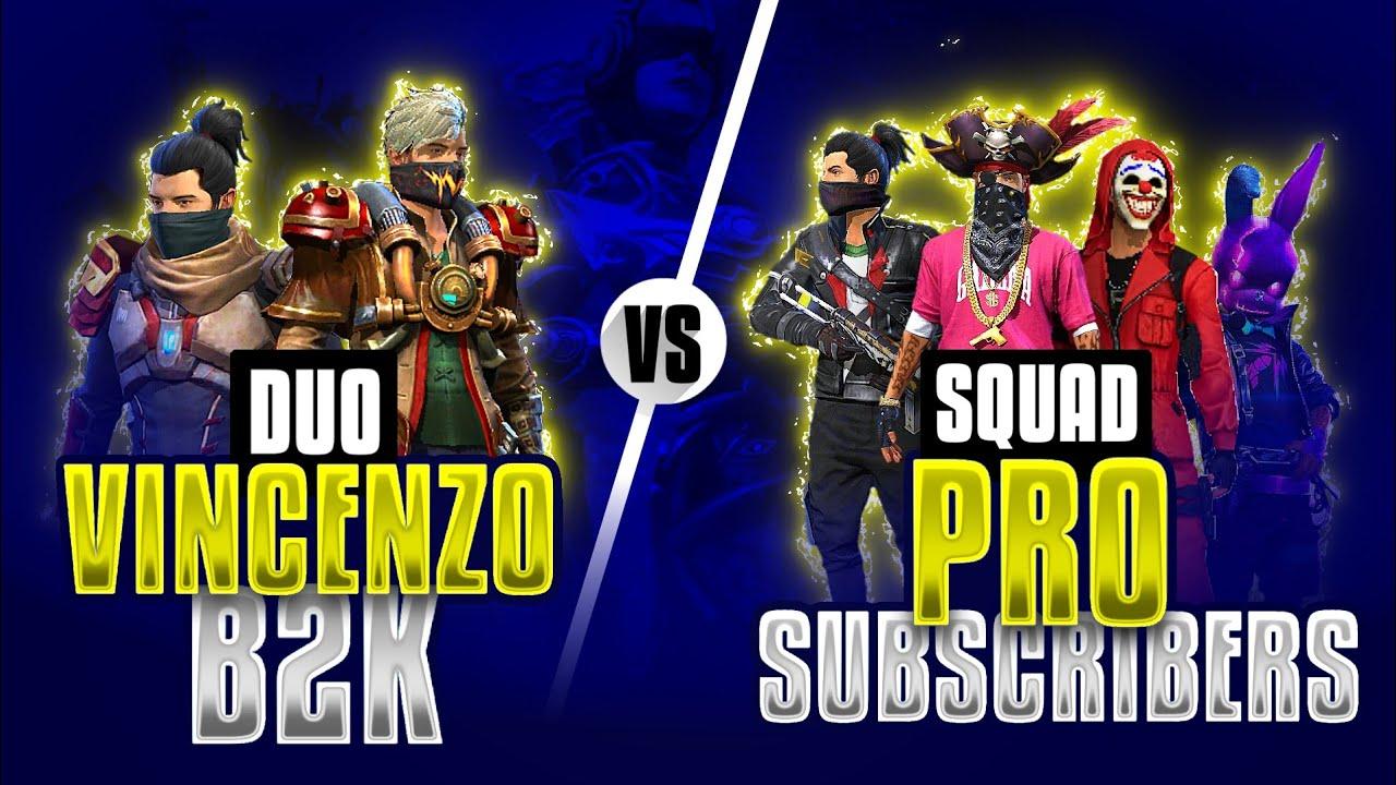 Vincenzo + Born2kill vs Subscribers Part-2 || Free Fire 2 vs 4 most Intense match - Nonstop gaming