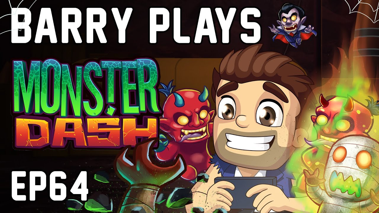 Barry Plays Monster Dash! 💥👺👹 - Barry Vlog #64