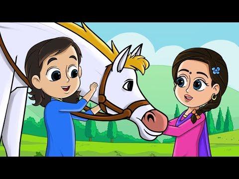 Horse Song | Lakdi Ki Kathi Kathi Pe Ghoda | Fun For Kids TV - Hindi Rhymes