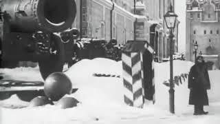 """""""Зима в Кремле"""" конохроника, Москва, 1908. В кадре исчезнувшие:Чудов монастырь и Николаевский дворец"""