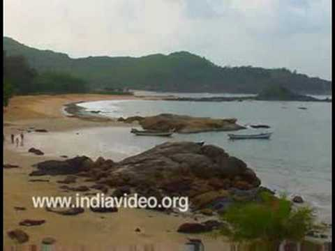 The secluded OM Beach, Gokarna