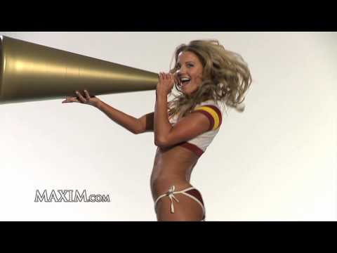 Maxim's 2010 NFL Preview: NFL Cheerleaders on trampolines!