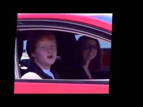 Ginger Kid Sings Unwritten In Car