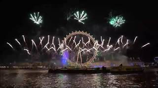 New Years Fireworks at the London Eye