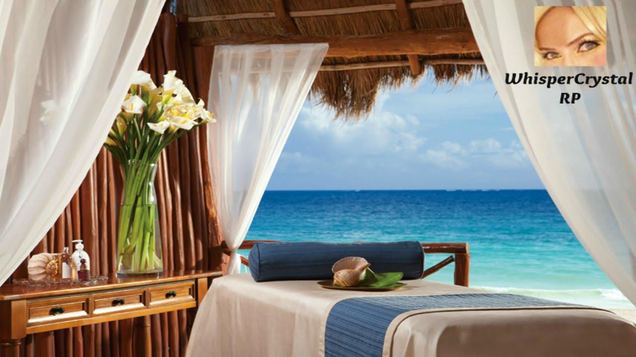 Paradise Island Spa Massage  WhisperCrystal RP ASMR  YouTube
