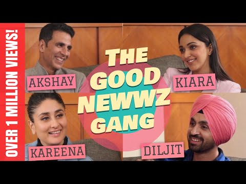 Akshay Kumar, Kareena Kapoor, Diljit Dosanjh, Kiara Advani With Rajeev Masand   Good Newwz