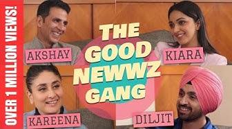Akshay Kumar, Kareena Kapoor, Diljit Dosanjh, Kiara Advani with Rajeev Masand | Good Newwz
