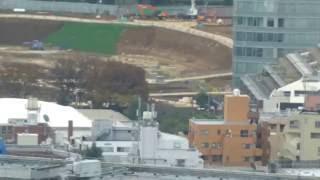 新国立競技場(Tokyo 2020 Olympic stadium)の建設状況(2016年11月23日)
