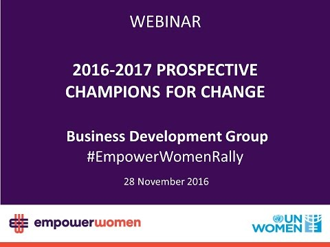 2016-2017 Prospective Global Champions – Business Development Group