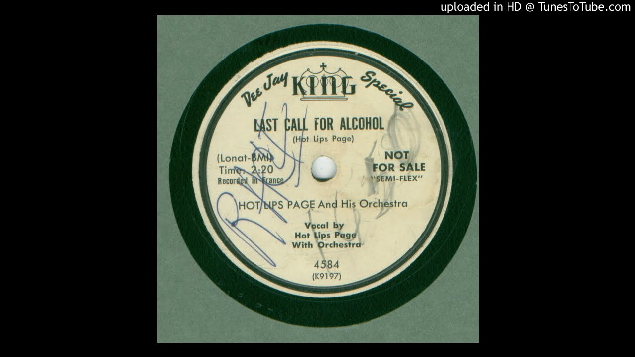 Hot Lips Page - Last Call For Alcohol / The Monkey (The Jungle King)