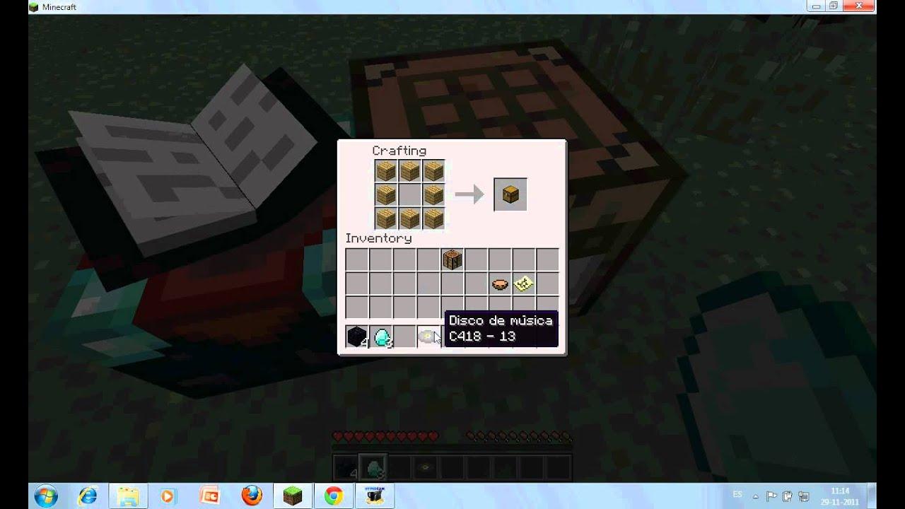 Como hacer mesa de encantamientos mapa toca discos y - Como hacer sopa de setas en minecraft ...