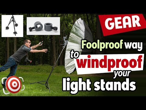 "How to WINDPROOF light stands with a StandDaddy™  A  ""better than DIY"" piece of grip equipment"
