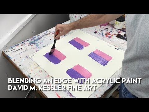 Blending an Edge with Acrylic Paint by David M. Kessler Fine Art