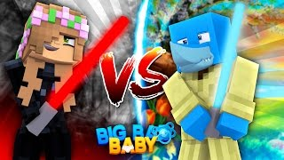 Minecraft BIG BAD BABY -  DARTH VADER (LITTLE KELLY) VS LUKE SKYWALKER (SHARKY)