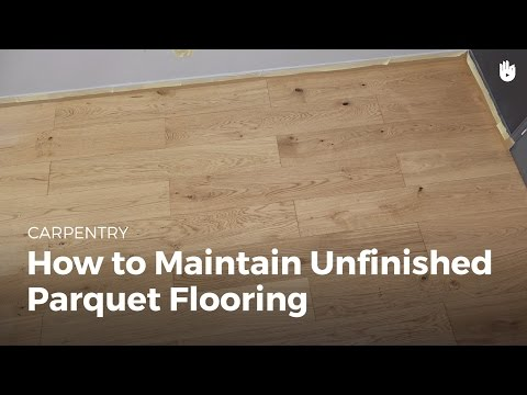 How to Maintain Unfinished Wood Flooring | DIY Projects