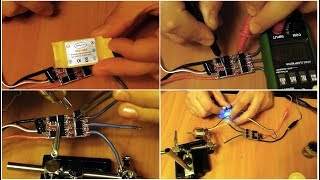 Ремонт регулятора скорости бесколлекторного мотора ESC-30A от прозвонки, до испытания.