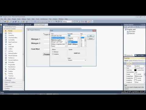 Cara Membuat Program Visual Basic 2010