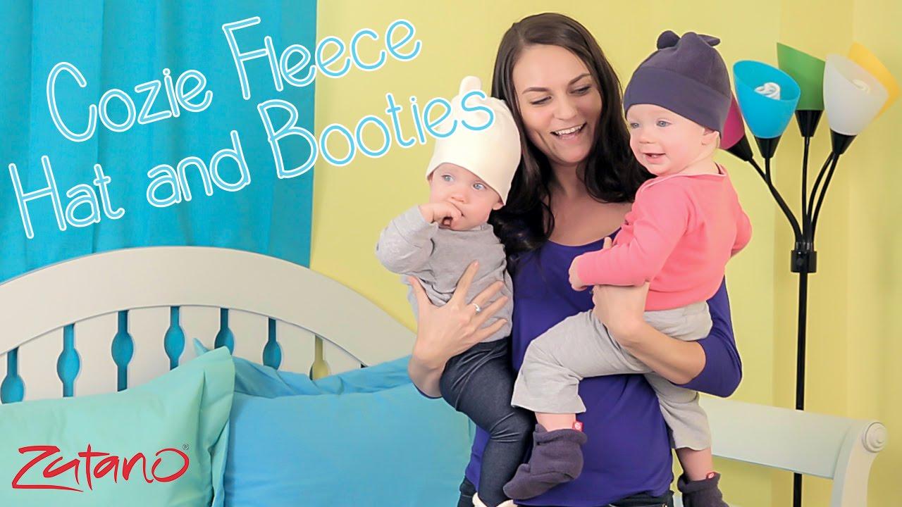 f3093683ae8 Zutano Fleece Hats and Booties - YouTube