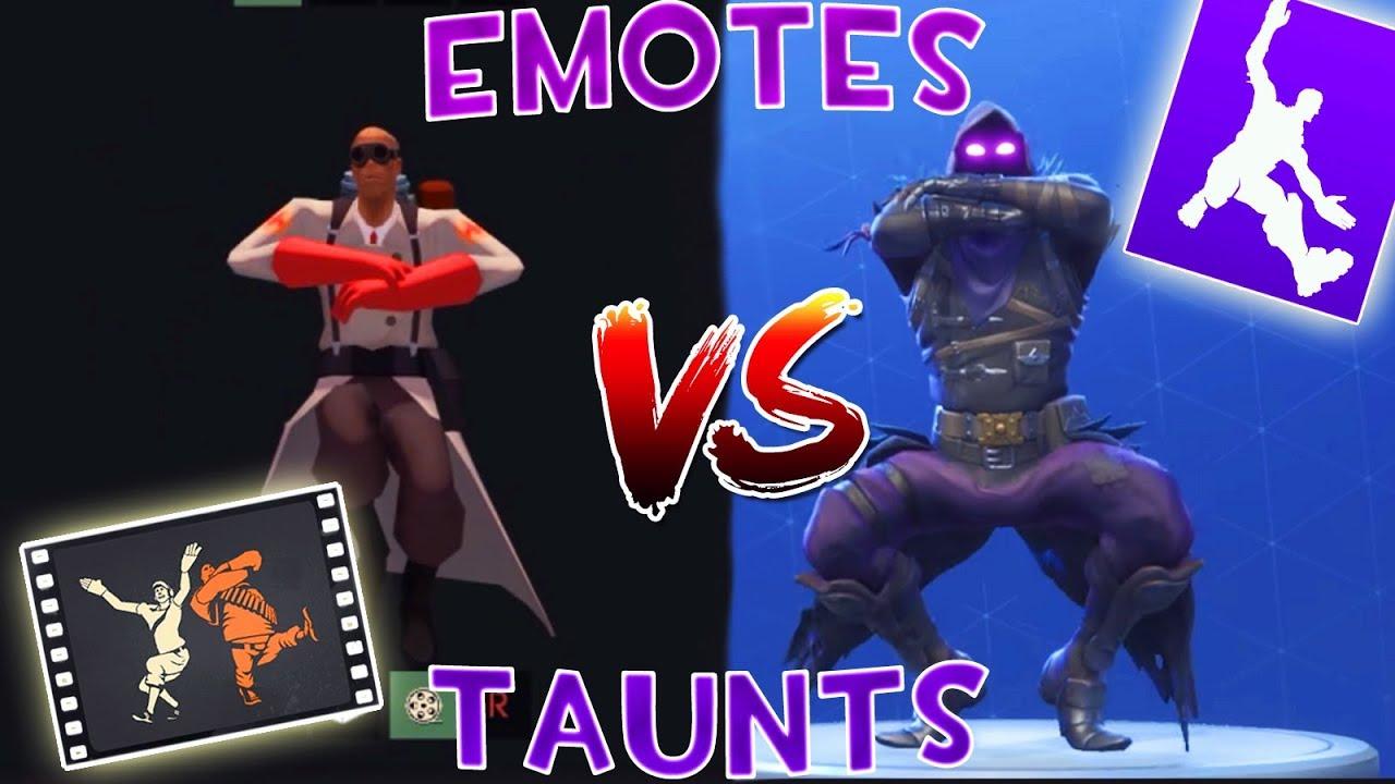 Tf2 taunts vs fortnite emotes so similar