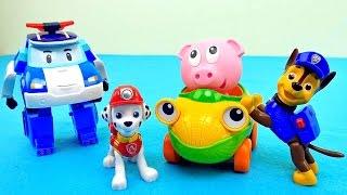 Щенячий Патруль и Робокар Поли спасают упрямого поросёнка Бада. Paw Patrol and Robocar Poli