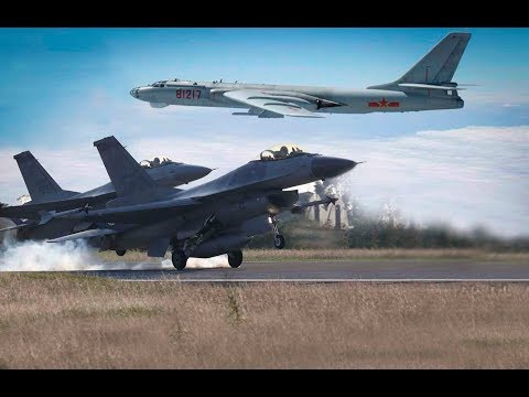 海峡论谈:轰六呛F-16 台海上空恐擦枪走火?