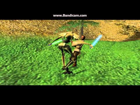 Star wars republic at war Obi-wan gets killed by general grievous hd 720p