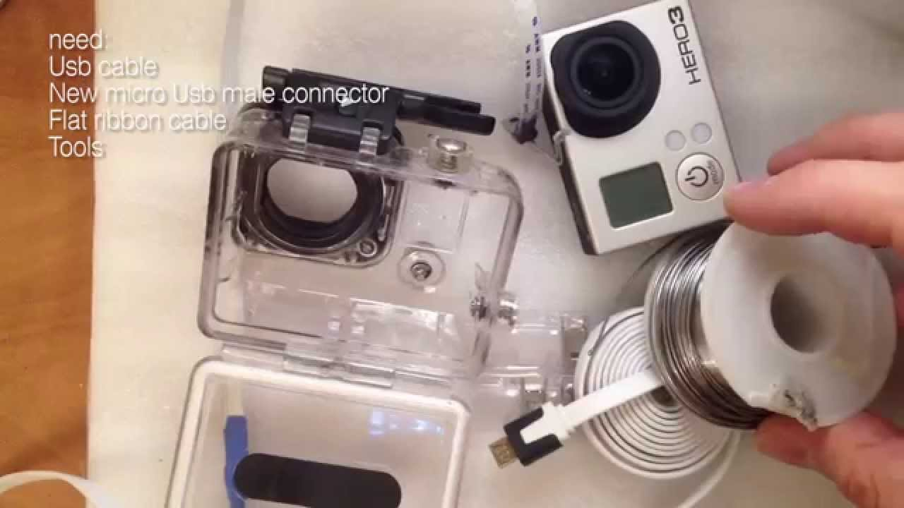 How To Make Gopro External Power Cable Without Housing