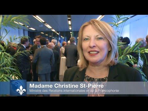 La ministre Christine St-Pierre rencontre les chefs de poste des représentations des États étrangers