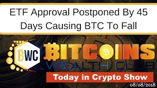 Bitcoin ETF Decision Postponed by 45 Days And BTC Market Crashes