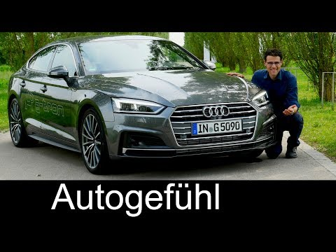 Audi A5 FULL REVIEW Sportback g-tron test s-line all-new neu 2018 - Autogefühl