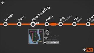Mini Metro Three Line Challenge (New York City)