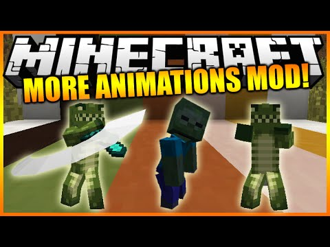 Minecraft Mods: Mo' Bends Player & Mob Animations (Sprinting, Jumping, Fighting) Mod Showcase