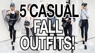 5 CASUAL OUTFIT IDEAS! FALL 2016