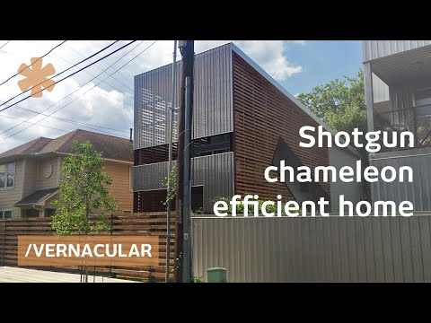 Chameleon shotgun house blends modern/vernacular on a budget