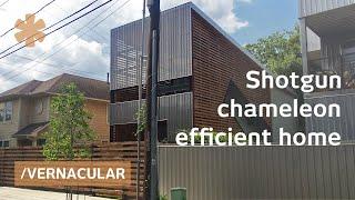 Chameleon shotgun house blends modern/vernacular on a budget