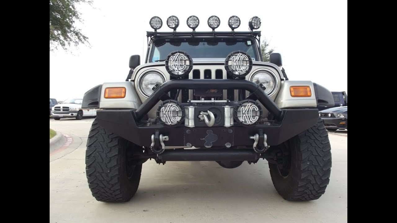 for sale 2003 jeep wrangler 4x4 rag top has nine kc lights