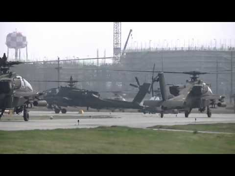24 Apache helicopters mass landing (South Korea)
