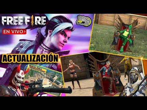 🔴 ESPERANDO LA NUEVA ACTUALIZACIÓN - Free Fire - NUEVO PERSONAJE, SKINS, ARMAS Y MÁS!!