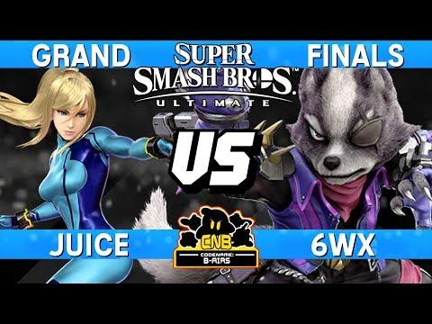 Smash Ultimate Tournament Grand Finals - Juice (ZSS) vs 6WX (Wolf) - CNB 179 thumbnail